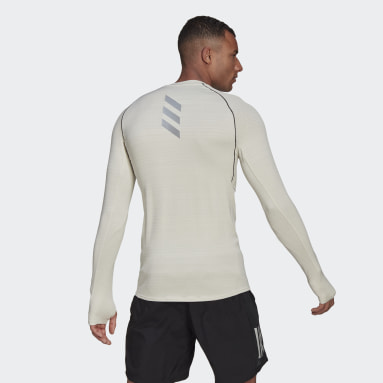 Runner Long Sleeve T-skjorte Beige