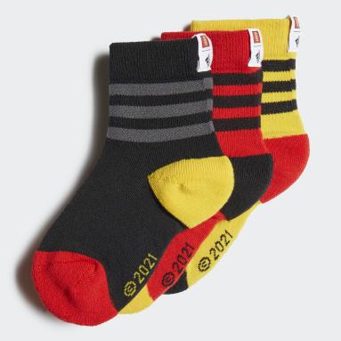 adidas x Classic LEGO® Crew Sokker, 3 par Rød