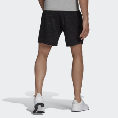 Heren Sportswear Zwart Essentials Mélange Short