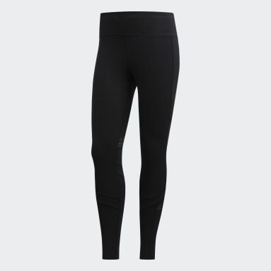 Calzas largas How We Do - Tiro Medio Negro Mujer Running