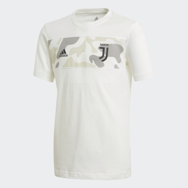 Youth Soccer White Juventus Graphic Tee