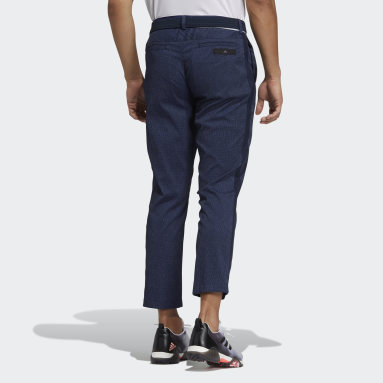 Men Golf Blue Tapered Pants