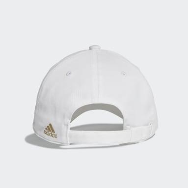 Fußball Real Madrid 3-Streifen Kappe Weiß