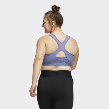 Women Gym & Training Purple Believe This HEAT.RDY Bra (Plus Size)