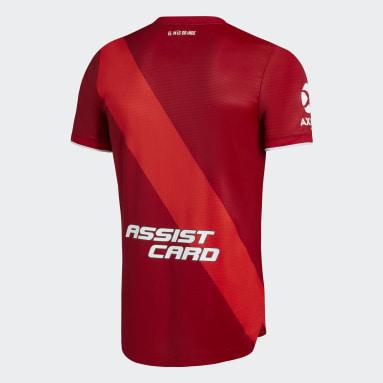 Camiseta Visitante Oficial River Plate 20/21 Rojo Hombre Fútbol