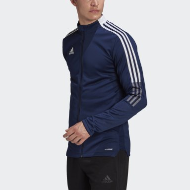 Men Soccer Blue Tiro 21 Track Jacket
