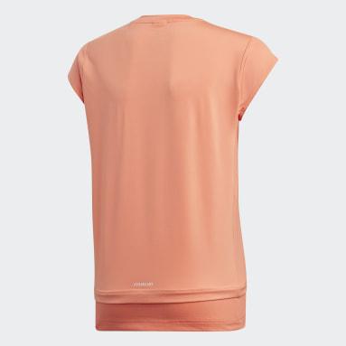 Dívky Joga oranžová Tričko Branded