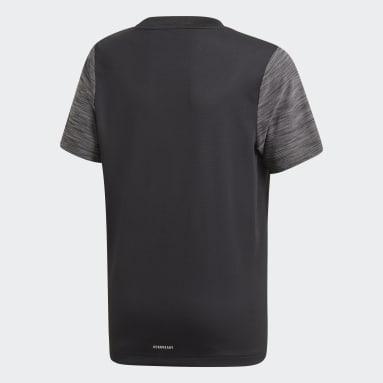 Youth Training Black AEROREADY Heather Tee