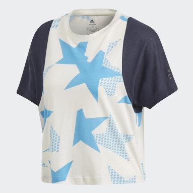 Women Sportswear White ID Crewneck T-Shirt