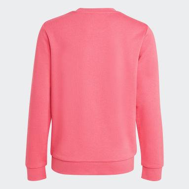Sweat-shirt Trefoil Crew Rose Enfants Originals