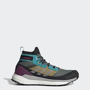 Men TERREX Blue Terrex Free Hiker Blue Hiking Shoes