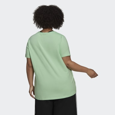 Frauen Originals adicolor Classics Trefoil T-Shirt – Große Größen Grün