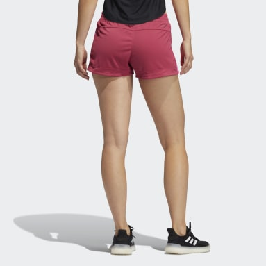 Women Training Pink Pacer 3-Stripes Knit Shorts