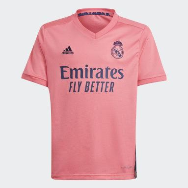Ensemble enfants Real Madrid 20/21 Extérieur Rose Enfants Football