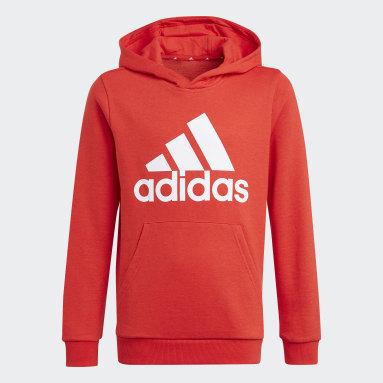 Chlapci Sportswear červená Mikina skapucňou adidas Essentials