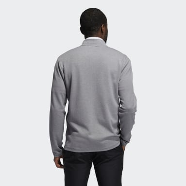 Haut 3-Stripes Quarter-Zip Gris Hommes Golf