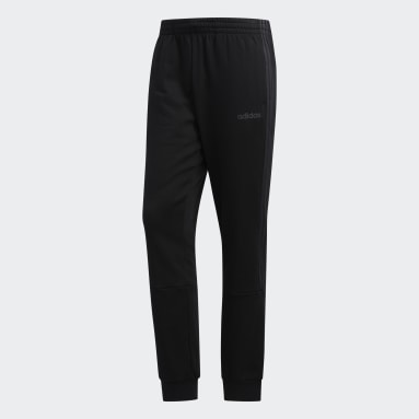 Men's Essentials Black 3-Stripes Jogger Pants