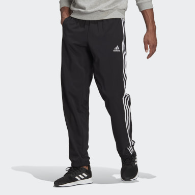 Men Sport Inspired Black AEROREADY Essentials Elastic Cuff 3-Stripes Pants