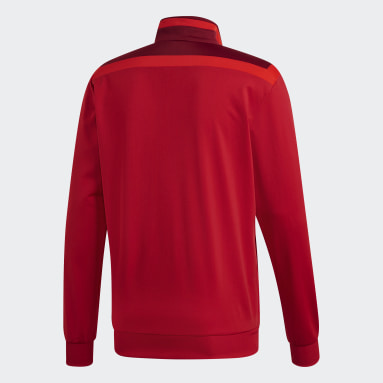 Men Gym & Training Red Tiro 19 Polyester Track Top