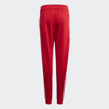 Adicolor SST Track Pants Czerwony