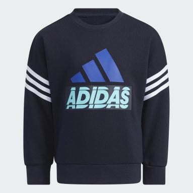 Kids 4-8 Years Gym & Training Blue Graphic Crewneck Sweatshirt