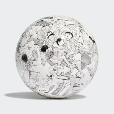 Men's Soccer White Captain Tsubasa Mini Ball