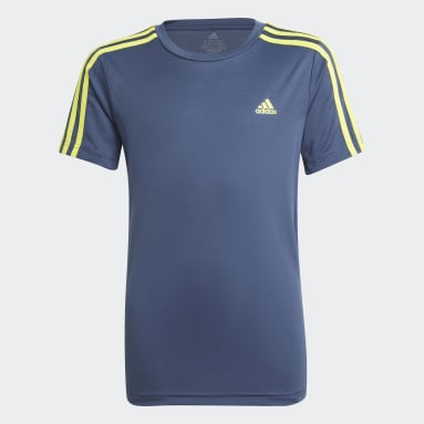 Camiseta Designed 2 Move 3-Stripes Azul Meninos Training