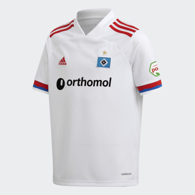 Kids Football White Hamburger SV 20/21 Home Jersey