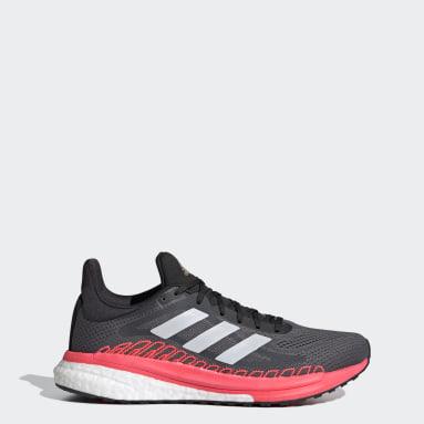 Zapatillas SolarGlide 3 ST Plomo Mujer Running