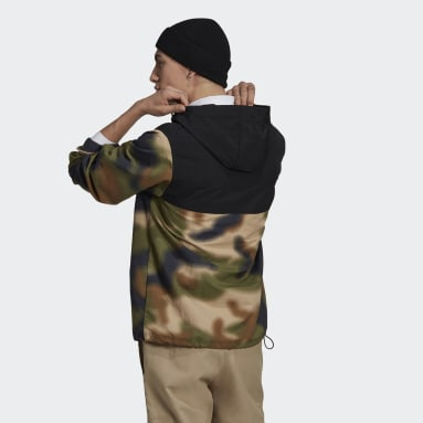 Men Originals Beige Camo Windbreaker