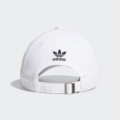 Men's Originals White Relaxed Big Trefoil Hat