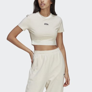 Women Originals White R.Y.V. Cropped Tee