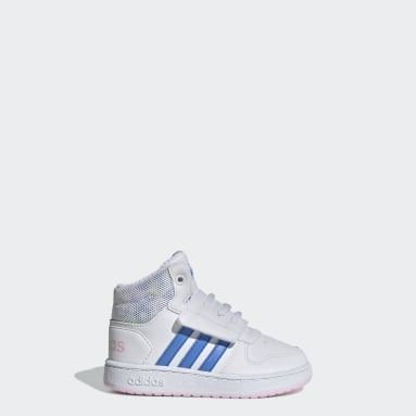 Zapatillas Hoops Mid 2.0 (UNISEX) Blanco Niño Essentials