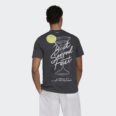 Men Tennis Grey Roland Garros Tennis  Graphic T-Shirt