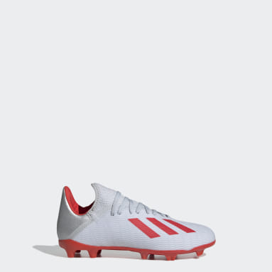 Kids Football Silver X 19.3 Firm Ground Boots