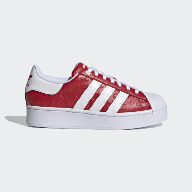 Women's Originals Red Superstar Bold Shoes