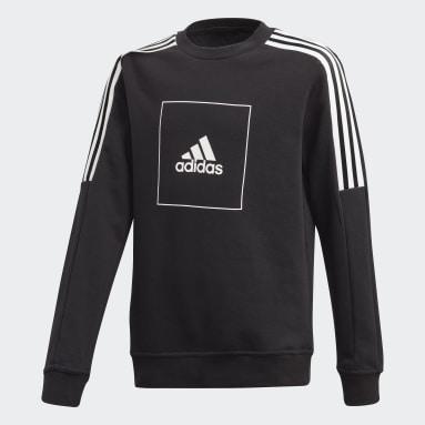 Sweat-shirt adidas Athletics Club Crew Noir Garçons Fitness Et Training
