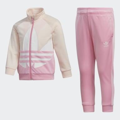 Kids Originals Pink Adicolor Large Trefoil Track Suit