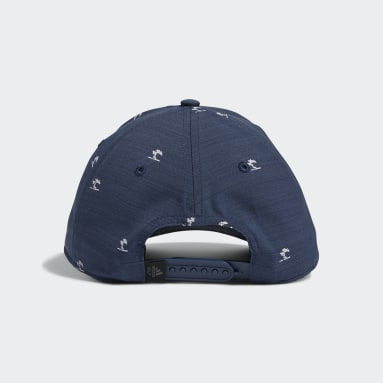 Men Golf Blue TP Print Hat