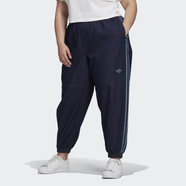 Women Originals Blue Japona Denim Track Pants (Plus Size)