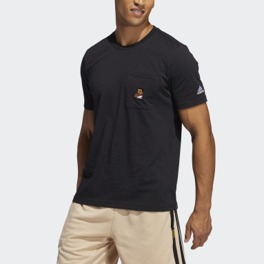 Heren Basketbal Zwart Dame Avatar Pocket T-shirt
