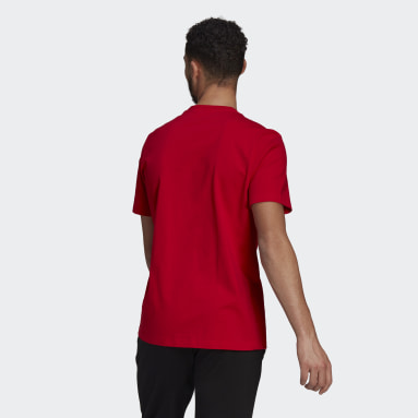 Männer Sportswear Essentials Big Logo T-Shirt Rot