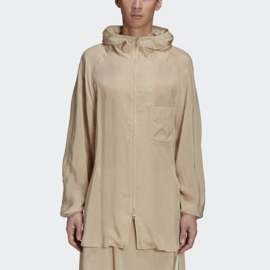 Men Y-3 Beige Y-3 CH3 Sanded Cupro Hooded Top