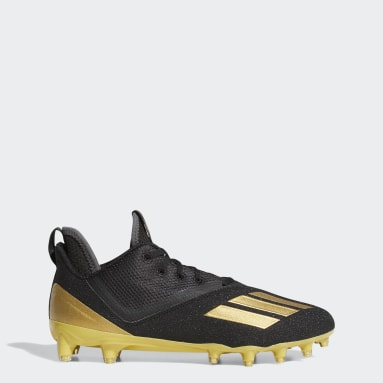 Men's Football Gold Adizero Scorch Football Cleats