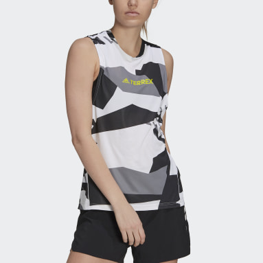 Women TERREX White Terrex Parley Agravic Trail Running Tank Top