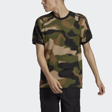 Men Originals Green Camo 3-Stripes Tee