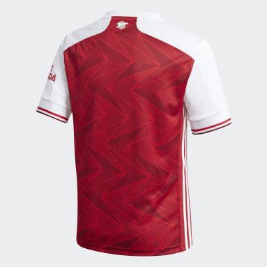 เด็กผู้ชาย ฟุตบอล สีแดงเบอร์กันดี เสื้อฟุตบอลชุดเหย้า Arsenal