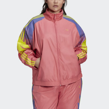 Women Originals Pink Fakten Track Jacket (Plus Size)