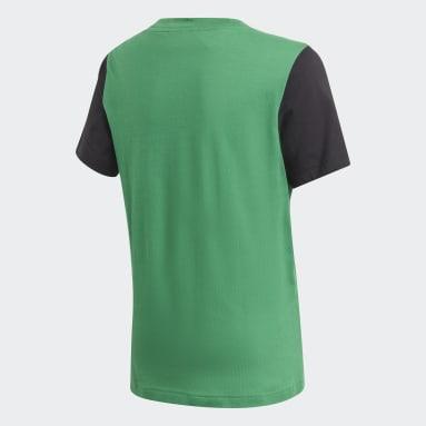 T-shirt Logo Verde Ragazzo Fitness & Training