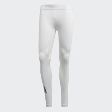 Licras Largas Alphaskin Sport - Cintura Baja Blanco Hombre Training